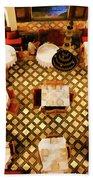 Restaurant Palais Des Merinides Fes Morocco Paint  Beach Towel