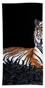 Resting Tiger Beach Towel
