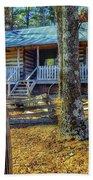 Restored Log Cabin Beach Towel