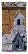 Retired Bird Houses By Prankearts Fine Arts Beach Towel