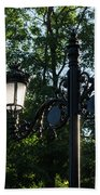 Retro Chic Streetlamps - Old World Charm With A Modern Twist Beach Towel
