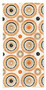 Retro Circles Pattern Beach Towel