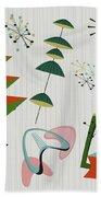 Retro Mid Century Modern Atomic Inspired Beach Towel