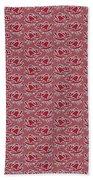 Retro Red Pattern Beach Towel