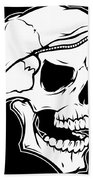 Retro Skull Beach Towel
