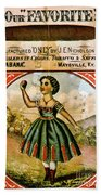 Retro Tobacco Label 1868 C Beach Towel