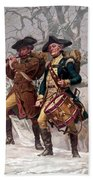 Revolutionary War Soldiers Marching Beach Towel