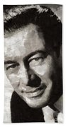 Rex Harrison, Vintage Hollywood Legend Beach Towel