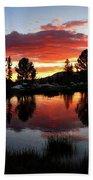 Reymann Lake Sunset - Yosemite Beach Towel