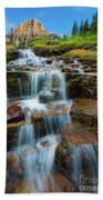Reynolds Mountain Waterfall Beach Towel