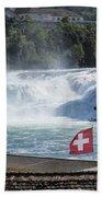 Rhine Falls In Switzerland Beach Towel
