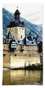 Rhine River Castle Beach Towel