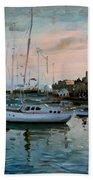 Rhodes Mandraki Harbour Beach Towel by Ylli Haruni