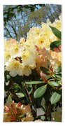 Rhodies Flowers Art Yellow Orange Rhododendrons Garden Beach Towel