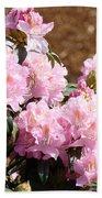 Rhododendron Garden Art Print Pink Rhodies Flowers Baslee Troutman Beach Towel