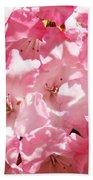 Rhododendrons Flowers Art Print Pink Rhodies Baslee Troutman Beach Towel