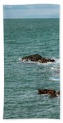 Rhoscolyn Rock Panorama Beach Towel