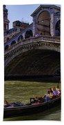 Rialto Bridge In Venice Italy Beach Towel