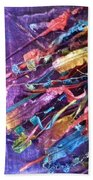 Ribbons 3 Beach Towel