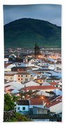Ribeira Grande At Nightfall Beach Towel