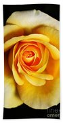 Rich And Dreamy Yellow Rose   Beach Towel