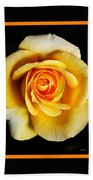 Rich And Dreamy Yellow Rose  With Design Beach Towel