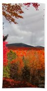 Rich Fall New Hampshire Colors Beach Sheet
