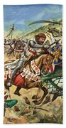 Richard The Lionheart During The Crusades Beach Towel by Peter Jackson