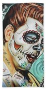Richie Valens Day Of The Dead Beach Towel