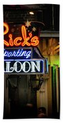 Ricks Sporting Saloon Beach Towel