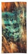 Riddicks World Watercolor Painting Beach Towel