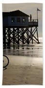 Ride Your Bike To The Beach Beach Towel