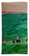 Riders In The Andes Beach Towel