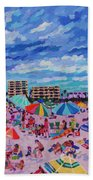 Right Panel Of Triptych Busy Relaxing Beach Towel