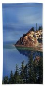 Right Side Of Crater Lake Oregon Beach Towel