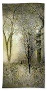 Rimy Forest Windy Daybreak By Laszlo Mednyanszky 1896 Beach Towel