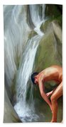 Rinsing Off Beach Towel