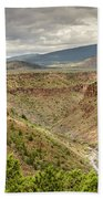 Rio Grande Gorge At Wild Rivers Recreation Area Beach Towel