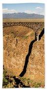 Rio Grande Gorge Bridge Taos New Mexico Beach Towel