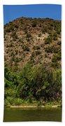 Rio Grande Panorama Pilar New Mexico Beach Towel