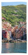 Riomaggiore 0582 Crop Beach Towel