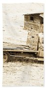 Rip Old Truck In Field Beach Towel