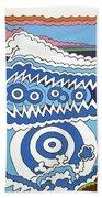 Rip Tide Beach Sheet by Rojax Art