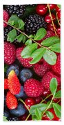 Ripe Of  Fresh Berries Beach Towel