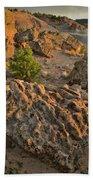 Ripple Boulders At Sunset In Bentonite Quarry Beach Towel