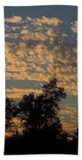 Ripple Clouds At Sunset Beach Towel