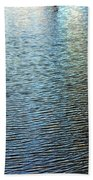 Ripples And Reflections Abstract Beach Towel
