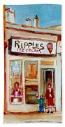 Ripples Icecream  Beach Towel
