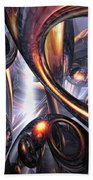 Rippling Fantasy Abstract Beach Towel