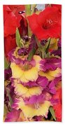 Rising Flowers Beach Towel